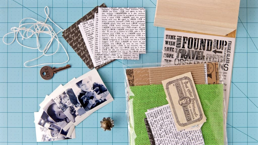 how to make a diy photo memory box with pull out photos