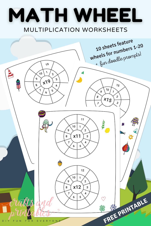Math Wheel Multiplication Worksheets Free Printable