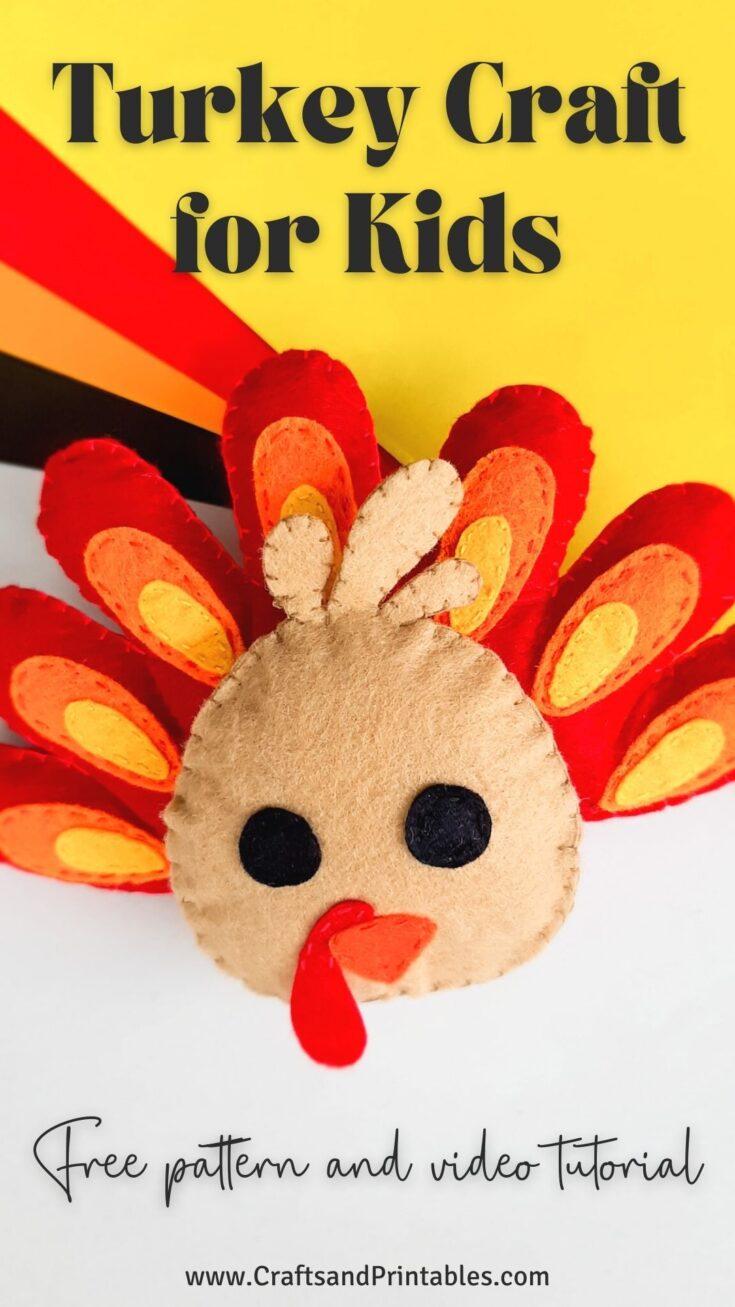 Cute Turkey Craft for Kids PIN Cute Thanksgiving Turkey Craft for Kids