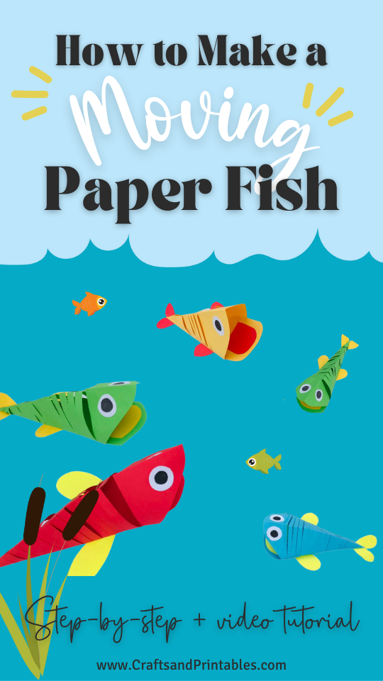 how to make a moving paper fish