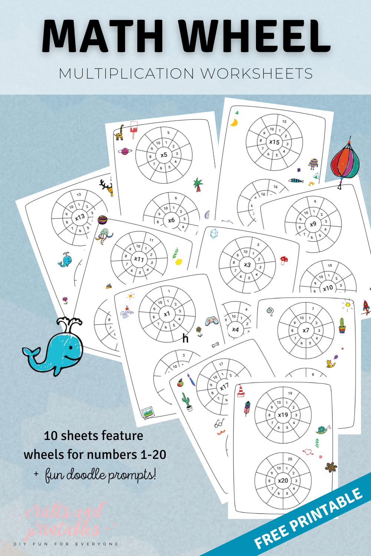 Math Wheel Multiplication Worksheets PIN