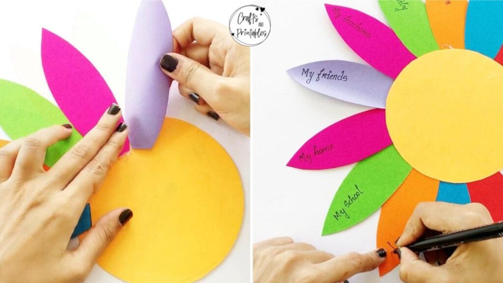 Thankful Turkey Craft Tutorial glue feathers