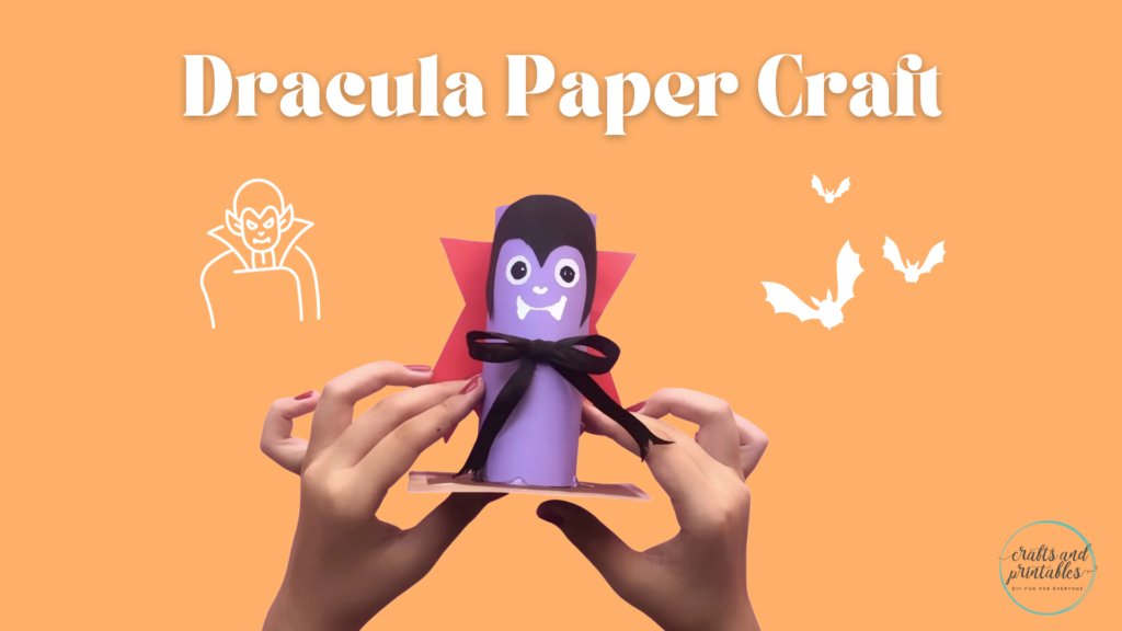 Easy Toilet Paper Roll Crafts Halloween Dracula Vampire