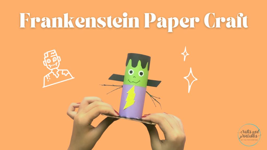 Easy Toilet Paper Roll Crafts Halloween   Frankenstein