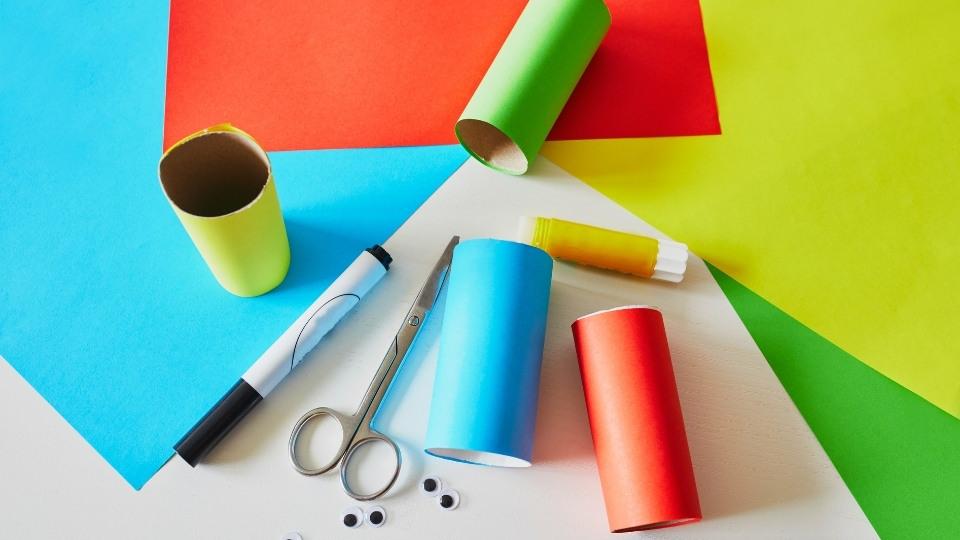 craft supplies paper scissors glue