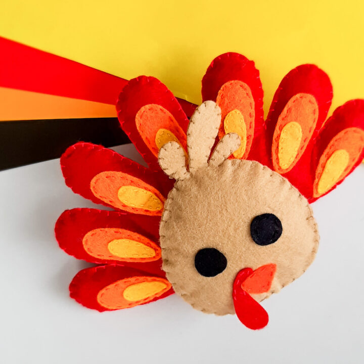 cute turkey craft for kids How to Make Christmas Gnomes: Free Felt Gnomes Pattern