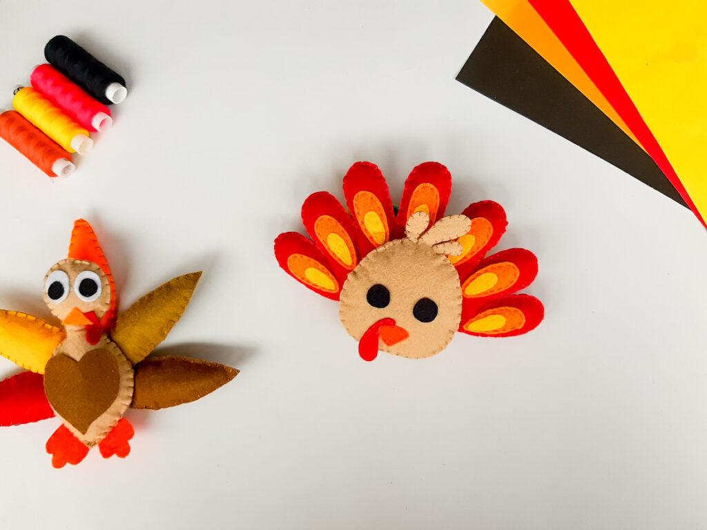 felt turkey plushie