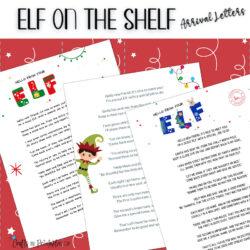 Elf on the Shelf Arrival Letter – 3 FREE Printables!