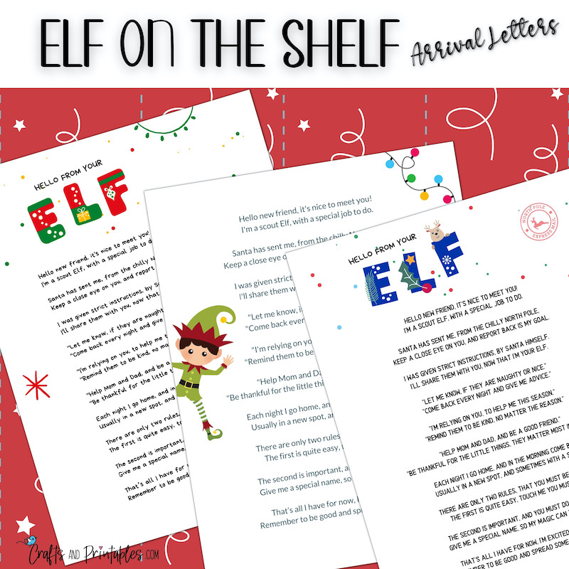 Elf on the Shelf Arrival Letters