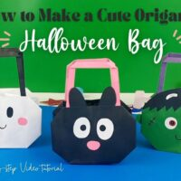 Easy Halloween Origami Treat Bag Social