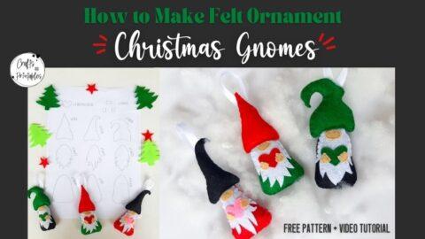 Felt gnomes free pattern