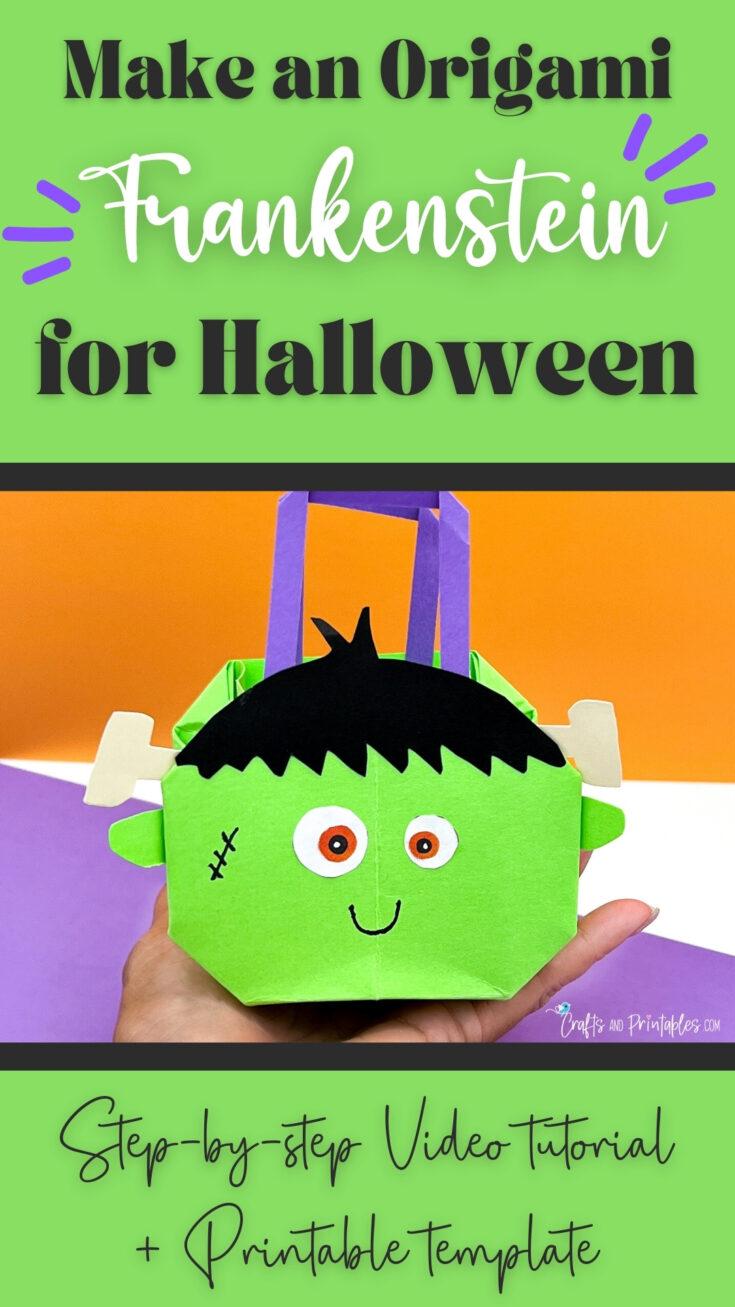 Halloween Origami Bag Frankenstein CNP Vertical 3 Easy Halloween Origami Treat Bags