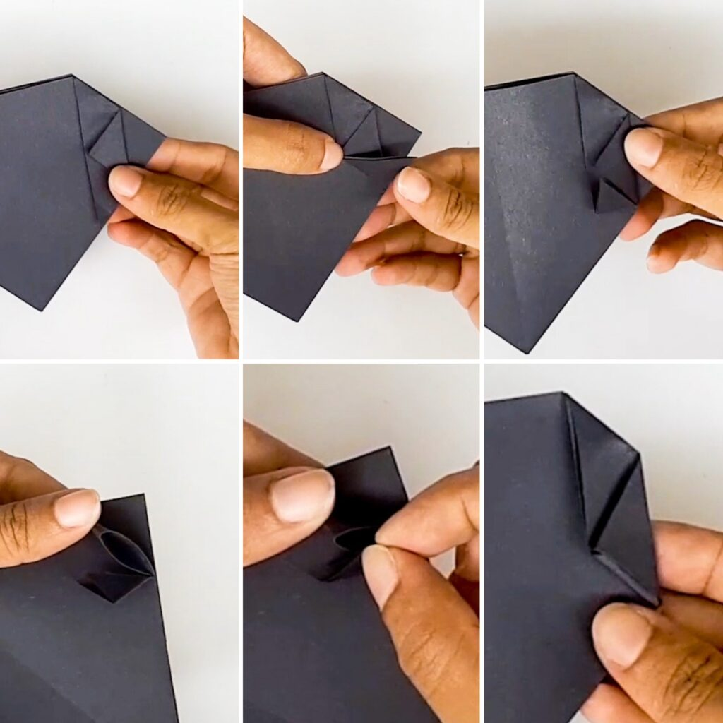 Easy Halloween Origami Treat Bag Cat