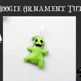 Nightmare Before Christmas Oogie Boogie Felt Ornament Pattern CNP
