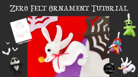 Nightmare Before Christmas Zero Felt Ornament Pattern
