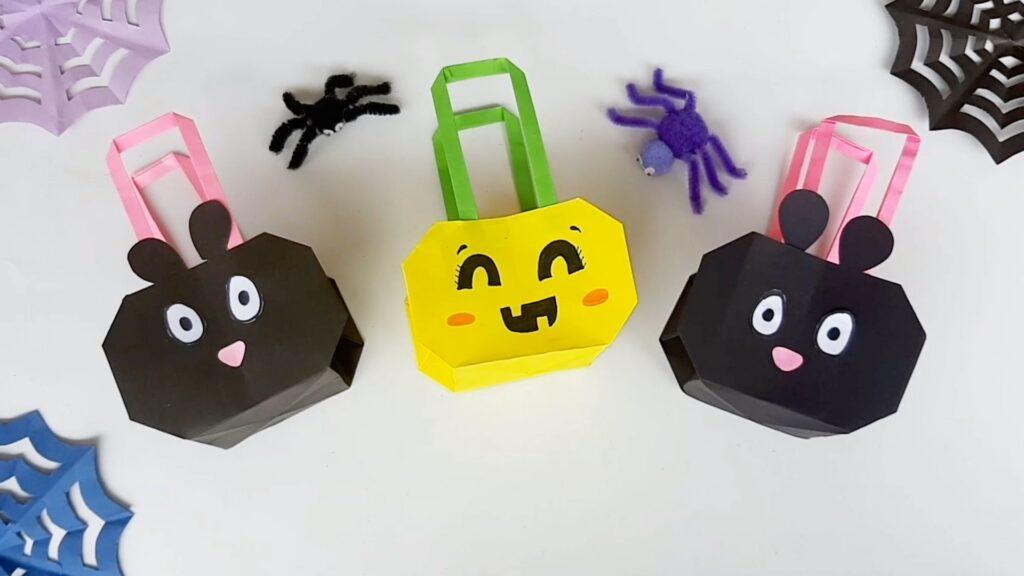 Origami Halloween Cat Bag