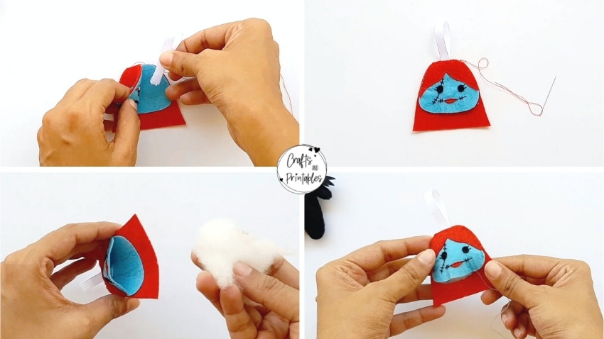 DIY Sally Felt Ornament