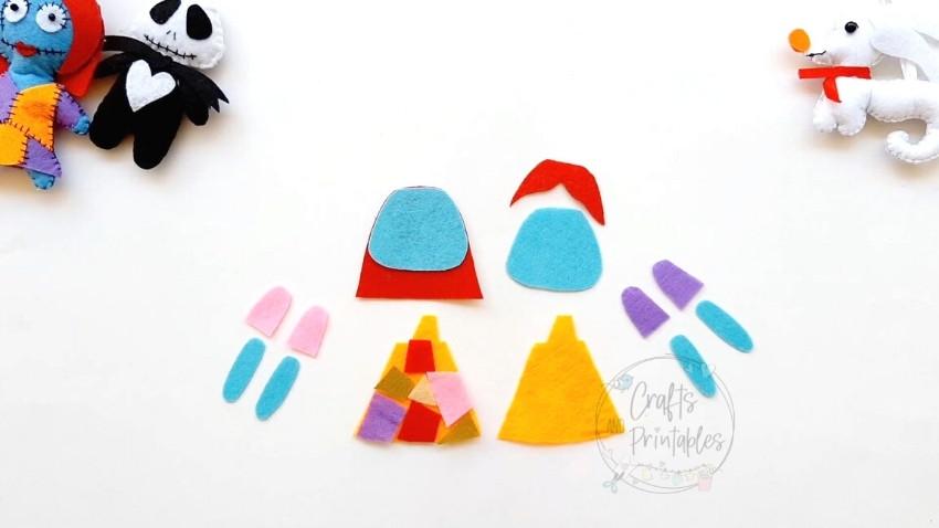 Sally Felt Ornament free Pattern pieces