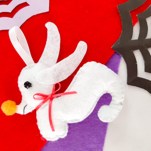 Zero Felt Ornaments Final 1 Nightmare Before Christmas Ornaments: Sally (Free Pattern!)