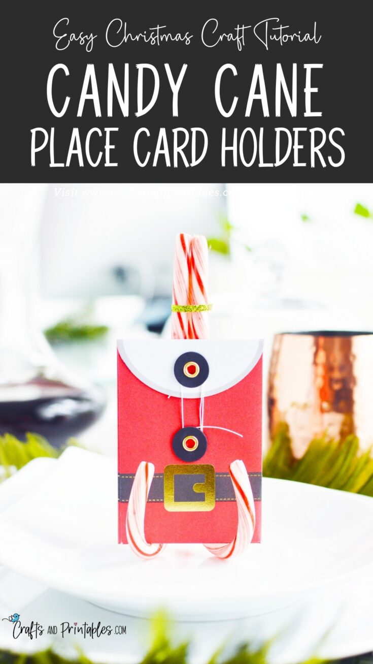 candy cane place card holders craft DIY Candy Cane Place Card Holders